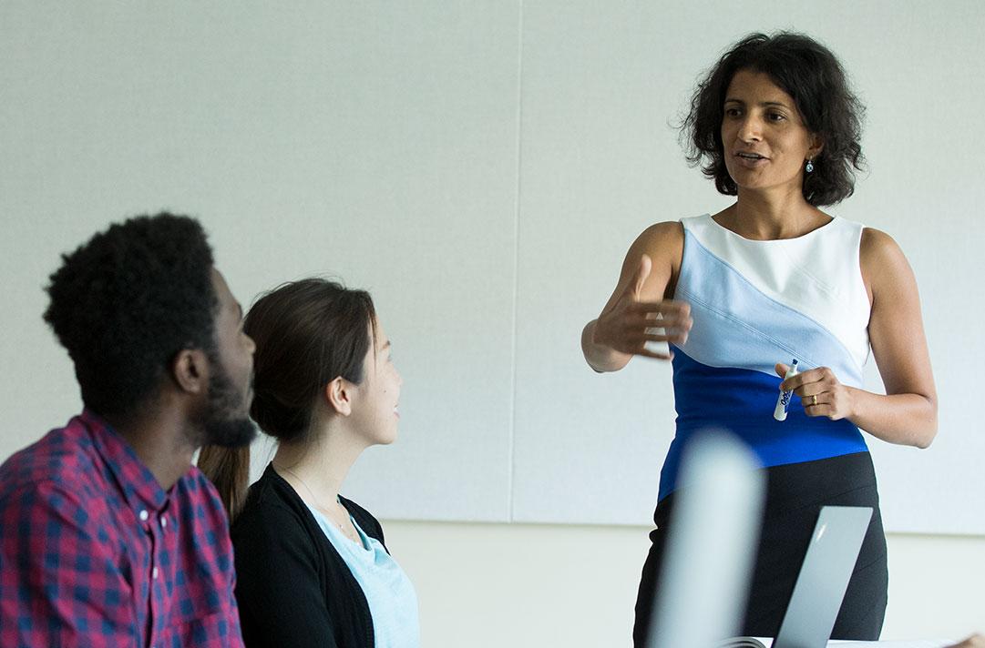 Amrita Nain teaching a class